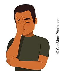Face Palm African American Man