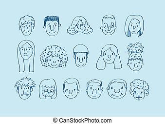 Face people