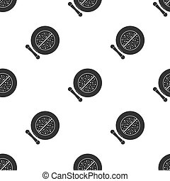 Face powder icon in black style isolated on white background. Make up pattern stock vector illustration.