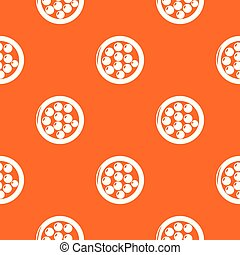 Face powder pattern vector orange for any web design best
