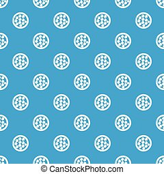 Face powder pattern vector seamless blue repeat for any use