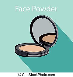 face powder style flat. vector illustration for cosmetic ...