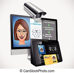 Face recognition - biometric security system concept