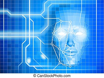 Face Recognition Facial Technology Background