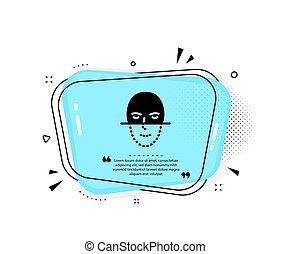 Face recognition icon. Faces biometrics sign. Vector - Face ...