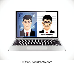 Face recognition system - Computer software concept
