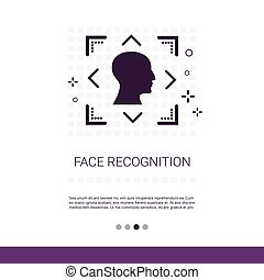 Face Scanning System Biometric Identification Concept Web...