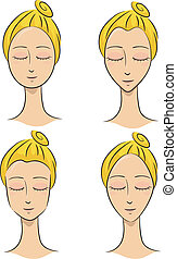 Face Shapes - Illustration of a Woman Depicting Different...