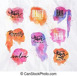 Face silhouettes color