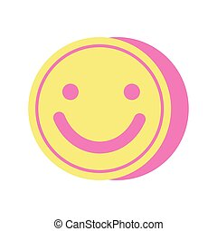 face smile happy isolated icon
