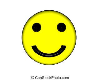 face., smiley, jaune