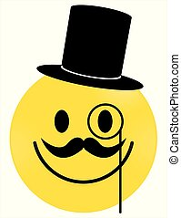 face., smiley, vetorial, emoji, feliz, yellow., círculo
