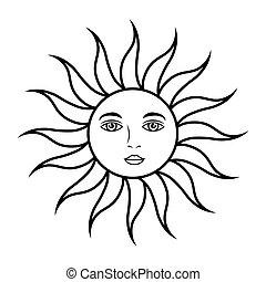 face soleil, astrologie