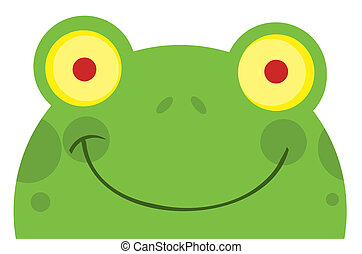 face souriant, grenouille