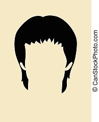 Face Symbol - Simple graphic of a hairstyle for man