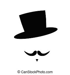 face with mustache vector