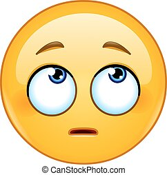 Face with rolling eyes emoticon - Emoticon face with rolling...