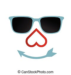 face with sunglasses illustration