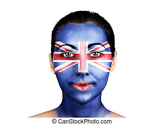 Face  with the United Kingdom flag