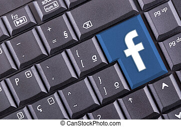 facebook button on computer keyboard