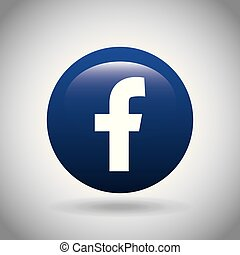 facebook classic emblem icon vector illustration design