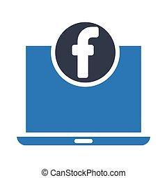 facebook glyph color icon