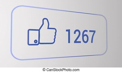 Facebook like flat animation, count from 0 to 9999, 10 sec.,...