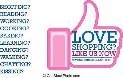 Facebook Like in pink
