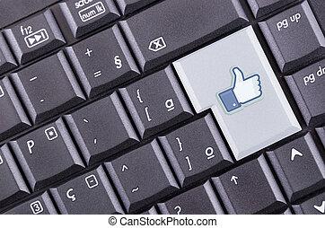 facebook, mögen, taste