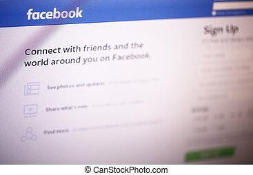 facebook, página principal