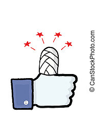 """Facebook security conceptual image - Facebook's """"like""""..."""