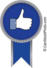 facebook, semelhante, sinal