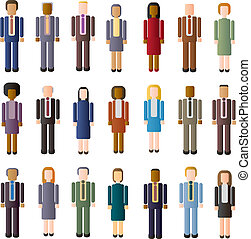 Faceless Business Crowd - A crowd of faceless business...
