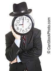 Faceless Businessman - Bored