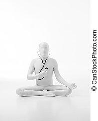 faceless man listen to his hearth lotus yoga