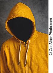 Faceless Man with Hodded Jacket
