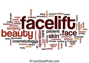facelift , λέξη , σύνεφο