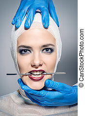 facelift beauty surgery - Beauty, fashion and medicine,...