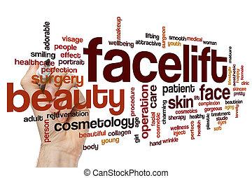 Facelift word cloud concept
