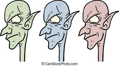 Faces aliens