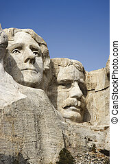 Faces at Mount Rushmore. - Theodore Roosevelt and Thomas...