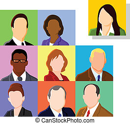 Faces - Business people avatar set