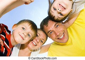 faces, of, счастливый, люди