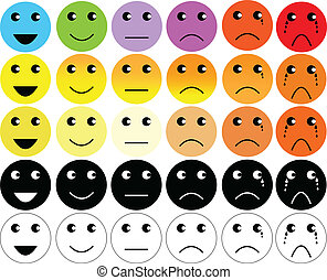 faces pain rating scale and emoticon
