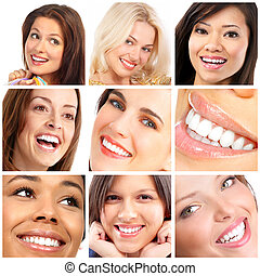 faces, smiles and teeth