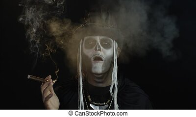 faces, top-hat., sien, cigare, confection, ouverture, type, ...