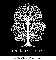 Faces Tree Icon