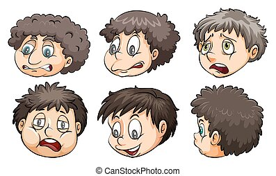 Faces with different expressions