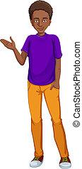 facet, afrykańska-amerikanka