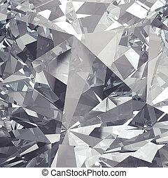 facet, kristal, helder, backgro, luxe
